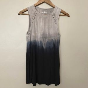 AE Soft & Sexy Ombre Tie Dye Lace Up Tank S